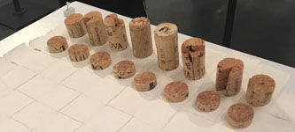 detail cork chess pieces